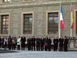 Los ministros en la puerta del Pignatelli