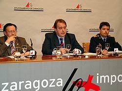 Miguel Ángel Ballestín, Carlos Pérez Anadón y Antonio Soriano