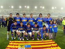 Primera alineación internacional de la selección aragonesa absoluta de fútbol