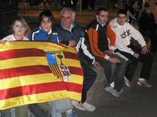 Los aficionados que esperaban celebrar la victoria han quedado decepcionados