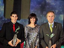 Rubén Gracia Cani, María José Pueyo y Luis María Garriga