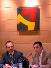 Jesús López Cabeza (izquierda) y Juancho García (derecha), durante la presentación