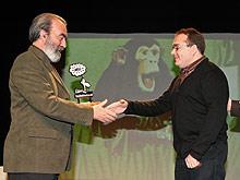 Elboj entrega a Broto el premio Blasillo de Huesca