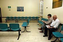 Una sala de espera del hospital Militar