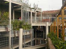 El jardín cuenta con más de 14 metros de altura