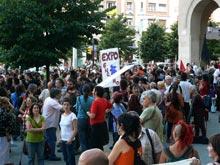 Más de 500 personas se han manifestado en plaza España