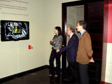 En el Espacio de Interpretación se proyecta un audiovisual en el que se explican de forma detallada los símbolos de la Comunidad Autónoma