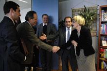 El consejero Velasco ha explicado a Hübner las aportaciones del Gobierno de Aragón al Libro Verde de la Cohesión Territorial