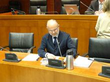 El director del IMLA ha comparecido en las Cortes para hablar del borrador