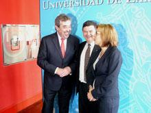 Belloch, López y Ventura antes de firmar