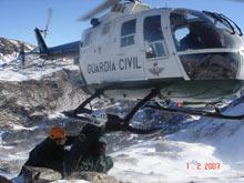 En Aragón, los rescates están coordinados entre el 061, el 112 y la Guardia Civil