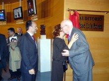 Imagen de Ramón Tejedor en el homenaje al cineasta José Luis Borau