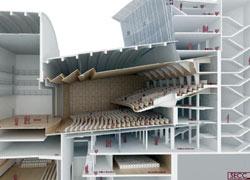 El proyecto incluye una superficie construida de 8.848 metros cuadrados