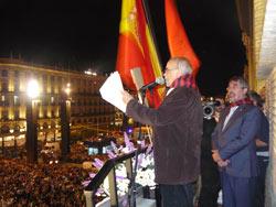 Labordeta fue el pregonero de las Fiestas del Pilar de 2009