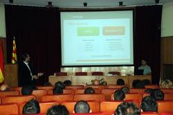 Momento de la presentación de Zentyal, el servidor Linux para las Pymes turolenses