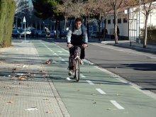 El uso de la bici es ya bastante habitual, por ejemplo, en la capital aragonesa