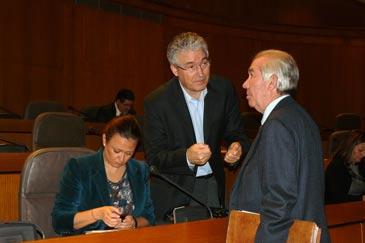 García-Madrigal intercambia impresiones con el consejero de Economía