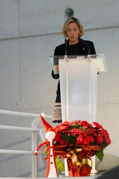 La presidenta de AJE Aragón, Pilar Andrade