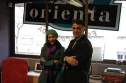 Paula Ortiz y el director de Orienta, Javier Lozano