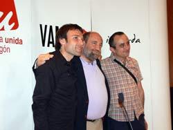 De izquierda a derecha, Pablo Muñoz, José Manuel Alonso y Raúl Ariza