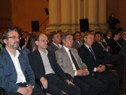Imagen de los líderes empresariales y sindicales en los Premios Medio Ambiente