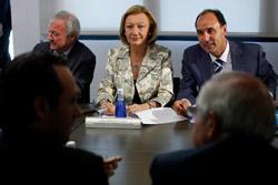 Rudi durante la reunión de presidentes autonómicos del PP