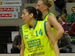 Pilar Valero en su etapa de jugadora del Mann Filter. Foto. Web Pilar Valero