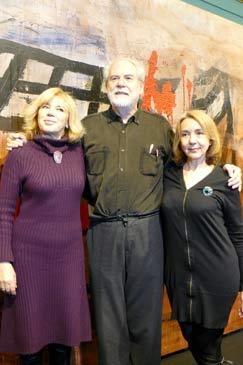 De izquierda a derecha: Pepa Sarsa, Luis Maluenda y Marisa Lahoz
