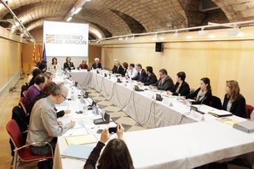 Luisa Fernanda Rudi ha intervenido en la reunión de la Cómisión organizadora del Compromiso de Caspe