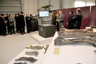 Este miércoles se ha presentado el nuevo yacimiento paleontológico de Ariño y el nuevo tipo de dinosaurio que se ha hallado en esta zona