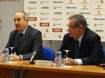 El presidente del BM Aragón, Domingo Arregui, explicaba la delicada situación económica