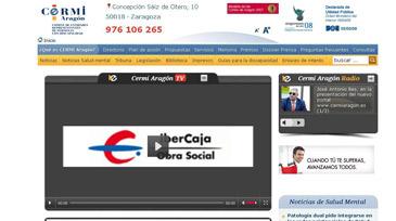 Vista de la nueva página web de Cermi