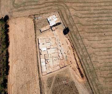 Imagen aérea del yacimiento