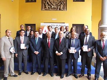 Acto de entrega de las placas y medallas al Mérito Turístico, celebrado en el palacio de Eguarás de Tarazona