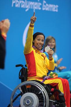 Teresa Perales consigue la medalla de plata en 50 metros mariposa