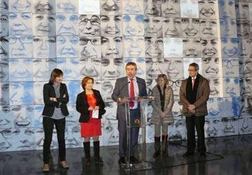 El alcalde, Juan Alberto Belloch, durante el acto de inauguración