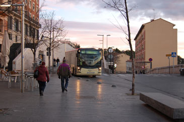 Imagen de uno de los buses urbanos de la ciudad de Teruel