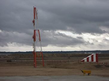 Imagen del Sistema de Navegación Instrumental (ILS) del aeropuerto de Zaragoza