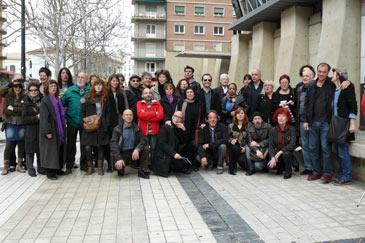 Foto de familia de representantes de la cultura aragonesa