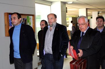 El concejal ha acudido al juzgado junto a su abogado Emilio Agra Varela