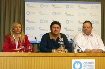 La abogada de Araga, Cristina Martínez, presidente, José Manuel Tornos, y vicepresidente, Miguel Martínez