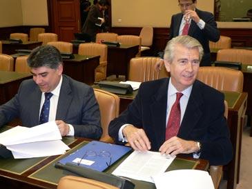 Lanzuela en una comisión de Fomento en el Congreso de los Diputados. Archivo