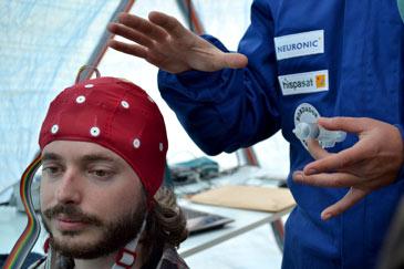 Peris está desarrollando un experimento sobre la autorregulación cerebral de los futuros astronautas