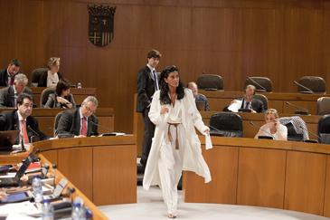 María José Ferrando(PP)antes de su intervención en el Pleno