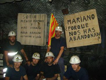 Los mineros se encerraron en la mina Sierra de Arcos