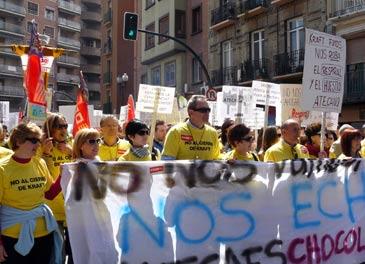 Los trabajadores salieron a la calle en la manifestación del día 1 de mayo