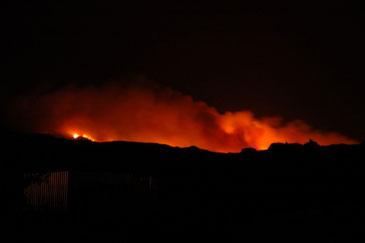 Imagen del incendio de San Gregorio