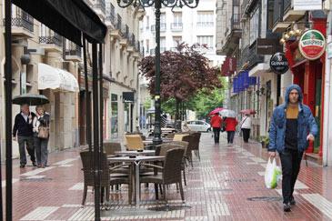 Imagen de archivo de un día de lluvia en Zaragoza