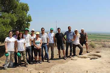 Alumnos del I Curso de Arqueología de campo de Castelflorite