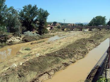 Imágenes de la última riada  a su paso por Oliete